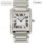 カルティエ Cartier タンクフランセーズSM 純正ダイヤ WE1002S3 レディース 腕時計 K18WG ホワイトゴールド 750 クォーツ ウォッチ