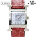 エルメス HERMES Hウォッチ HH1 210 レディース 腕時計 11P ダイヤ ホワイトシェル 文字盤 クォーツ ウォッチ
