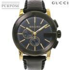 グッチ GUCCI Gクロノ YA101203 クロノグラフ メンズ 腕時計 101 2 ブラック 文字盤 クォーツ ウォッチ
