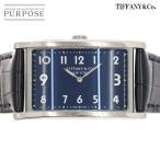 ティファニー TIFFANY&CO. イーストウエスト 34677344 ボーイズ 腕時計 ネイビー 文字盤 クォーツ ウォッチ