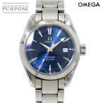 オメガ OMEGA シーマスター アクアテラ 2577 50 レディース 腕時計 デイト ブルー 文字盤 クォーツ ウォッチ