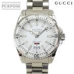 グッチ GUCCI ダイヴ YA136302 メンズ 腕時計 デイト ホワイト 文字盤 クォーツ ウォッチ