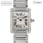 カルティエ Cartier タンクフランセーズSM アフターダイヤ W51008Q3 レディース 腕時計 クォーツ ウォッチ