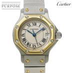 カルティエ Cartier サントスオクタゴンSM コンビ レディース 腕時計 K18YG イエローゴールド デイト クォーツ ウォッチ