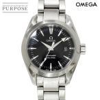 オメガ OMEGA シーマスター アクアテラ 2577 50 レディース 腕時計 デイト ブラック 黒 文字盤 クォーツ ウォッチ