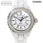 シャネル CHANEL J12 H0969 38mm ベゼルダイヤ メンズ 腕時計 ホワイト セラミック オートマ 自動巻き ウォッチ