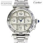 カルティエ Cartier パシャ 38mm グリッド W31040H3 メンズ 腕時計 デイト シルバー 文字盤 裏スケルトン オートマ 自動巻き ウォッチ