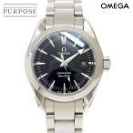 オメガ OMEGA シーマスター アクアテラ 2577 50 レディース 腕時計 デイト ブラック 文字盤 クォーツ ウォッチ