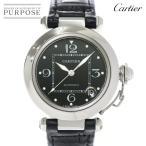 カルティエ Cartier パシャC 2002年 クリスマス限定 W3106099 ボーイズ 腕時計 デイト ブラック 文字盤 オートマ 自動巻き ウォッチ