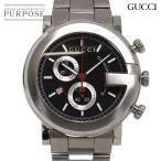 グッチ GUCCI Gクロノ 101M YA101309 クロノグラフ メンズ 腕時計 デイト ブラック 文字盤 クォーツ ウォッチ