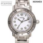 エルメス HERMES クリッパーダイバー CL5 210 レディース 腕時計 デイト ホワイト 文字盤 クォーツ ウォッチ