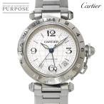 カルティエ Cartier パシャC メリディアン GMT W31078M7 ボーイズ 腕時計 デイト シルバー 文字盤 オートマ 自動巻き ウォッチ