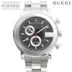 グッチ GUCCI Gクロノ YA101309 メンズ 腕時計 デイト ブラック 文字盤 クォーツ ウォッチ