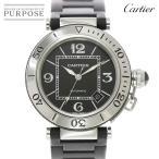 カルティエ Cartier パシャ シータイマー W31077U2 メンズ 腕時計 デイト ブラック 文字盤 オートマ 自動巻き ウォッチ