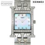 エルメス HERMES Hウォッチ HH1 230 ダイヤベゼル レディース 腕時計 12Pダイヤ ホワイトシェル 文字盤 クォーツ ウォッチ