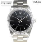 ロレックス ROLEX エアキング 14010 T番 メンズ 腕時計 ブラック 文字盤 オートマ 自動巻き ウォッチ