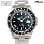 ロレックス ROLEX GMTマスター2 16710 F番 メンズ 腕時計 ブラック オートマ 自動巻き ウォッチ