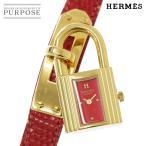 エルメス HERMES ケリーウォッチ KELLY レディース 腕時計 レッド 赤 文字盤 レザー クォーツ ウォッチ カデナ