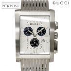 グッチ GUCCI 8600M Gメトロ クロノグラフ メンズ 腕時計 YA086319 シルバー 文字盤 クォーツ ウォッチ