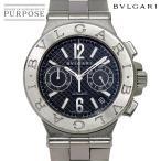 ブルガリ BVLGARI ディアゴノ クロノグラフ DG40SCH メンズ 腕時計 デイト ブラック 文字盤 自動巻き オートマ ウォッチ