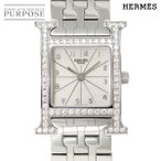 エルメス HERMES Hウォッチ HH1 230 ダイヤベゼル レディース 腕時計 シルバー 文字盤 クォーツ ウォッチ