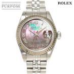 ロレックス ROLEX デイトジャスト 79174NR F番 レディース 腕時計 ブラックシェル 文字盤 K18WG ホワイトゴールド オートマ 自動巻き ウォッチ
