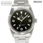 ロレックス ROLEX エクスプローラ1 14270 U番 メンズ 腕時計 トリチウム ブラック 文字盤 オートマ 自動巻き ウォッチ