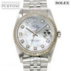 ロレックス ROLEX デイトジャスト 16234NG F番 メンズ 腕時計 ダイヤ ホワイトシェル 文字盤 オートマ 自動巻き ウォッチ