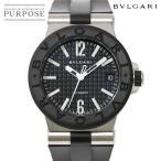 ブルガリ BVLGARI ディアゴノ DG35SV ボーイズ 腕時計 デイト ブラック 文字盤 オートマ 自動巻き ウォッチ