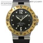 ブルガリ BVLGARI ディアゴノ スクーバー コンビ SD38SG メンズ 腕時計 デイト ブラック 文字盤 K18YG イエローゴールド オートマ 自動巻き ウォッチ