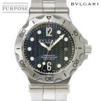 ブルガリ BVLGARI ディアゴノ スクーバ アクア DP42SSD メンズ 腕時計 デイト ブラック 文字盤 オートマ 自動巻き ウォッチ