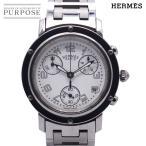 エルメス HERMES クリッパー クロノグラフ CL1 310 レディース 腕時計 デイト ホワイト 文字盤 クォーツ ウォッチ