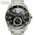 カルティエ Cartier カリブル ドゥ カルティエ ダイバー W7100057 メンズ 腕時計 デイト ブラック 文字盤 オートマ 自動巻き ウォッチ