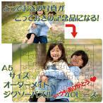 送料無料 ジグソーパズル オリジナル プリント 40ピース A5サイズ 写真 オーダーメイド 七五三 クリスマス 記念 ギフト おじいちゃん おばあちゃん