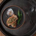 美濃焼 ギフトLuca (ルカ) 24.5cm切立プレート カトラリーセット アルベロ  H2102 日本製