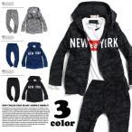 NEWYORK 迷彩総柄 パーカ上下セット 韓国子供服 子供服 キッズ ジュニア 男の子 女の子 アメカジ 110cm 120cm 130cm 140cm 150cm 160cm