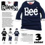 Bee 7分袖 Tシャツ 韓国子供服 子供服 キッズ ジュニア 男の子 女の子 アメカジ 110cm 120cm 130cm 140cm 150cm 160cm