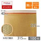 薄い クッション封筒 クリックポスト ゆうパケット 最大 MAX 内寸315×225mm クラフト茶 100枚セット