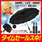 折りたたみ傘 メンズ レディース 自動開閉 折り畳み傘 大きいサイズ ワンタッチ 撥水 風に強い 丈夫 晴雨兼用 12本骨 学生 ケース カバー 付き