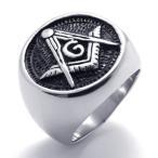 PW 高品質316Lステンレス フリーメイソン 指輪 条件付 送料無料 21636