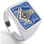 PW 高品質316Lステンレス フリーメイソン 指輪 条件付 送料無料 22324
