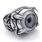 PW 高品質316Lステンレス 義眼 指輪 リング 条件付 送料無料 22602