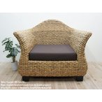 ウォーターヒヤシンス ソファ HRS1P95 一人掛け シングルソファ アジアン家具 アジアンリゾートチェア 椅子 木製いす 天然木イス バリ家具 ハンドメイド
