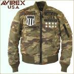 AVIREX アビレックス MA-1ミリタリーフライトジャケット 刺繍、パッチ、レザースタッズ