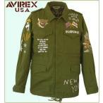 ミリタリージャケット コットンジャケット M-43 アビレックス Avirex 刺繍スカジャケット