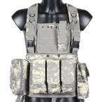 チェストリグ ACU迷彩 アーマーベスト サバゲー 装備 サバイバルゲーム M4 AK PMC ミリタリー 海兵隊