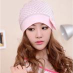 可愛いピンクの医療用帽子 ケア帽子 ドット柄 リボン コットン キャップ 抗がん剤治療 水玉
