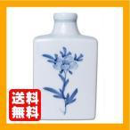 砥部焼 花瓶 金城窯 角輪立 草文 約φ9.5×15.5cm
