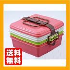 ショッピングcolors Colors スタック式ピクニックケース角型(大) 3段 ピンク 4004