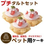 犬用ケーキ プチタルト いちごのタルト 3個 ペット用ケーキ ペットケーキ